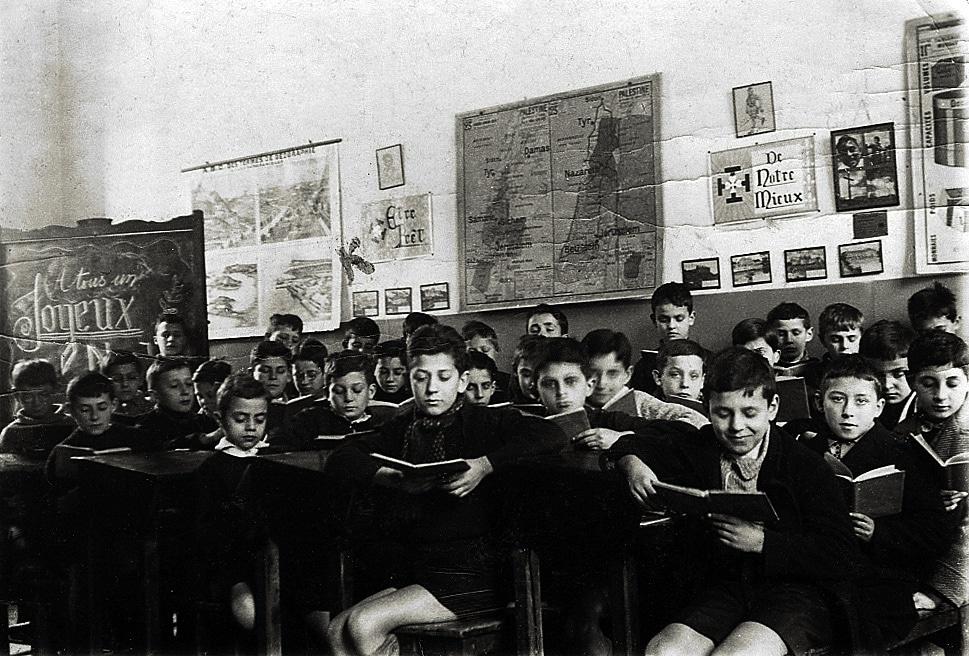 Salle de classe – noël 1937