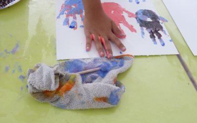 Initiation artistique pour les enfants de la Maison de l'Enfance en juillet !